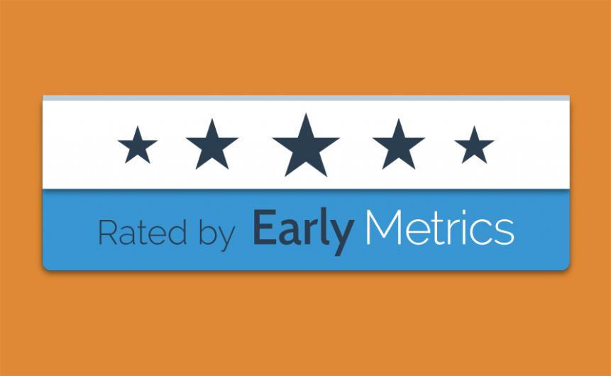 Early Metrics nous attribue cinq étoiles !